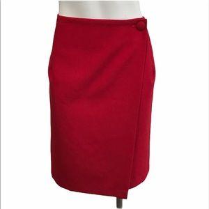 Vintage Red Wrap Skirt
